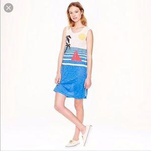 NWT J. CREW BEACH SCENE TANK DRESS